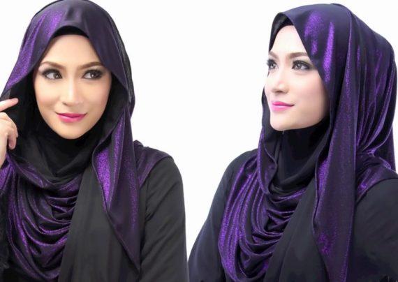 بستن شال با حجاب