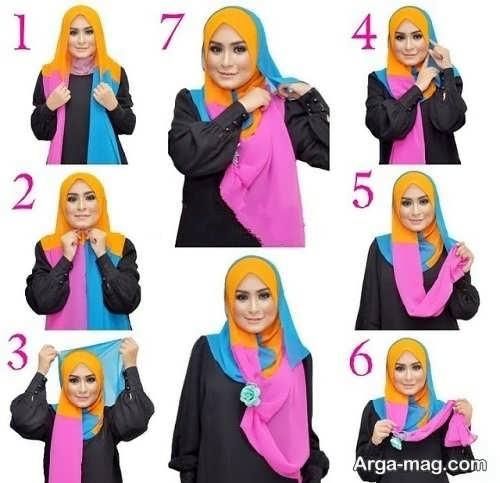 جدیدترین بستن شال با حجاب