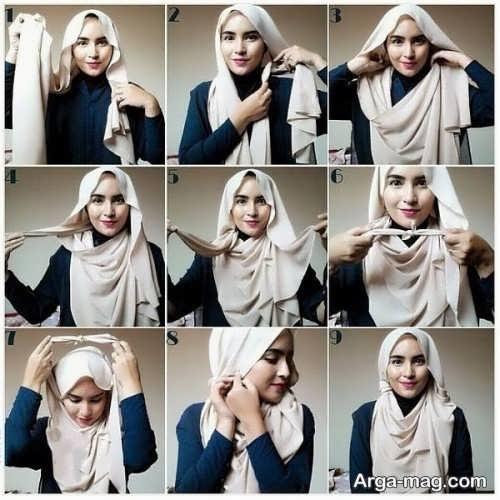 شیک ترین بستن شال با حجاب