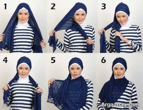قشنگ ترین بستن شال با حجاب