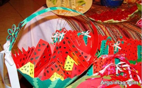 هندوانه دست ساز برای کاردستی