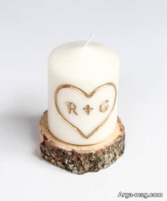 تزیین شمع ولنتاین