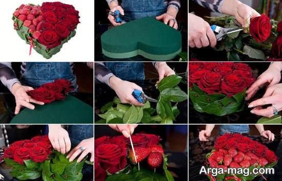 تزیین گل ولنتاین