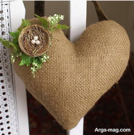 ساخت دکور قلب با گونی