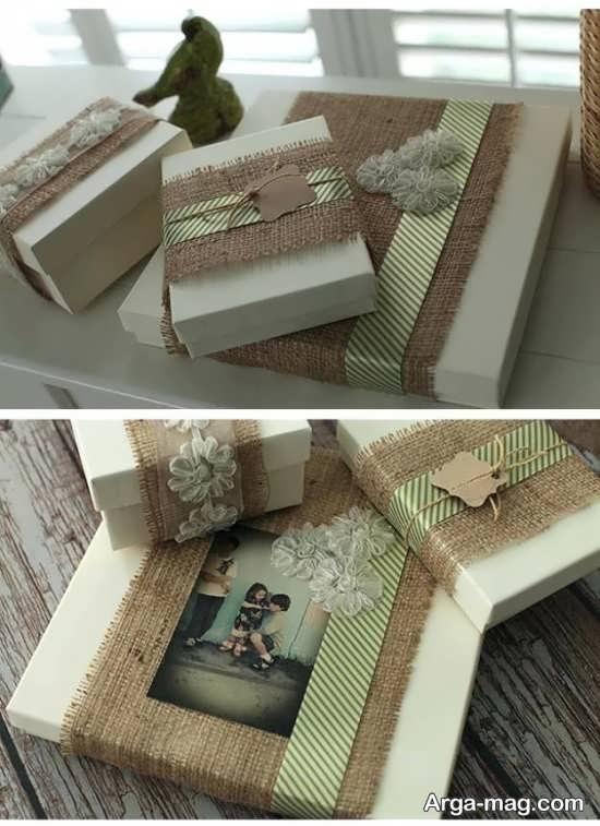 تزیین جعبه کادو با گونی