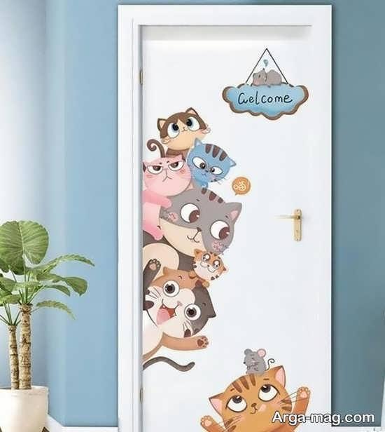 تصاویری از دیزاین درب اتاق نوزاد