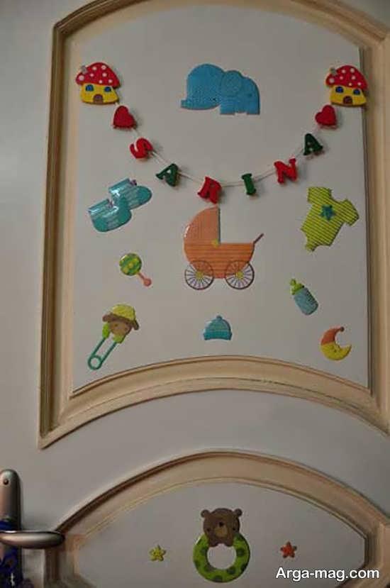 انواع دیزاین درب اتاق نوزاد
