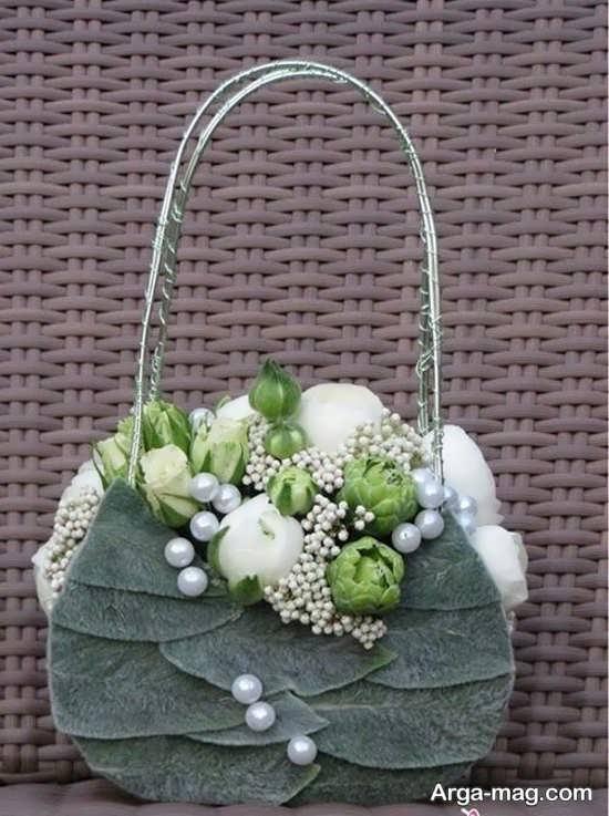 طراحی کیف با گل زیبا