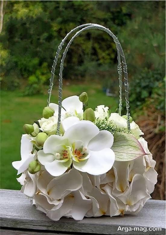 طراحی کیف دستی با گل