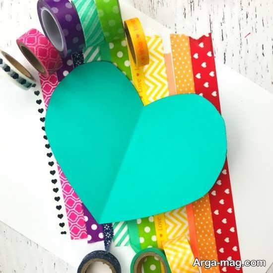 طراحی جلد دفتر مشق با چسب رنگی