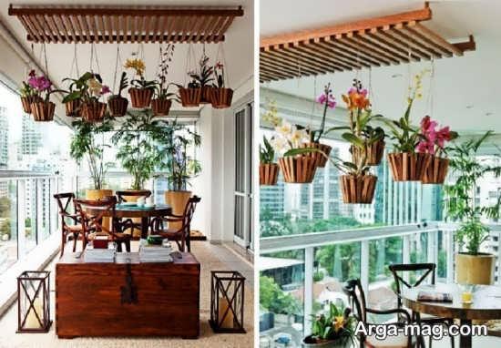 چیدمان عالی بالکن با گیاهان زینتی