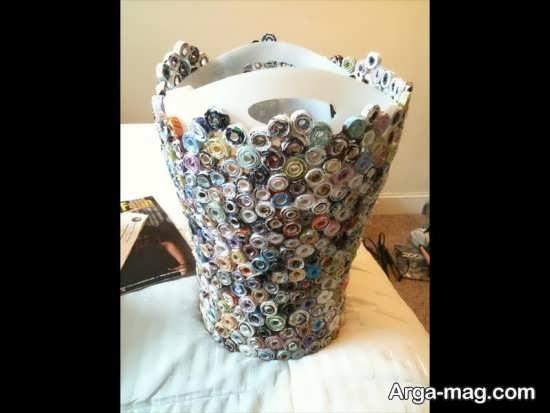 ساخت سطل زباله با مواد بازیافتی