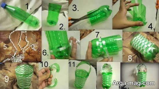 ساخت سطل زباله با بطری پلاستیکی