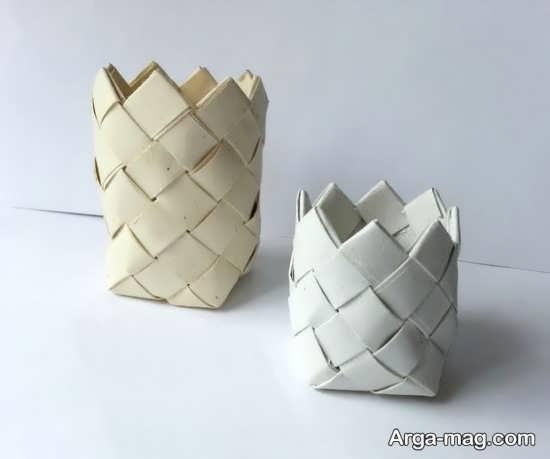ساخت سطل زباله با مقوا