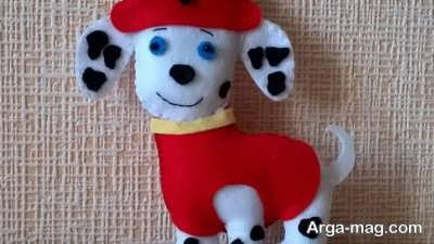 تصاویری از عروسکهای سگ نمدی
