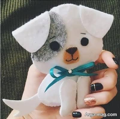 عروسکهای سگ نمدی زیبا