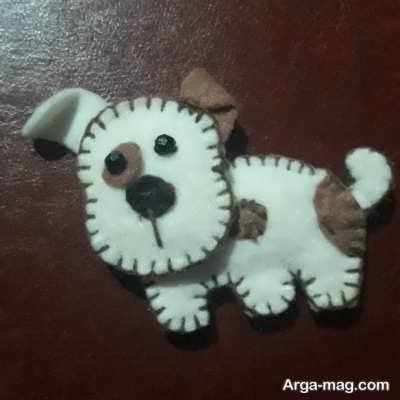 ساخت عروسکهای سگ نمدی