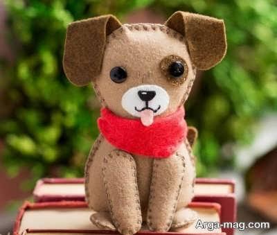 عروسکهای سگ نمدی جالب