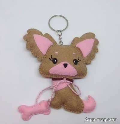 گیفت عروسک سگ نمدی