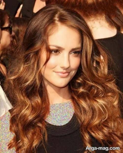 رنگ موی قهوه ای طلایی