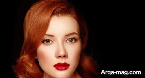 رنگ موی قرمز عمیق