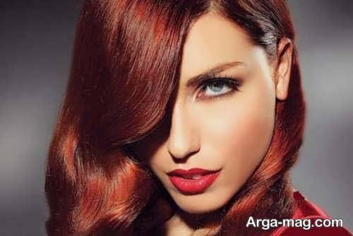 رنگ موی متمایل به قرمز