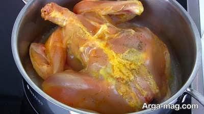 سرخ کردن مرغ