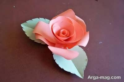 ساخت گل با کاغذ مقوایی