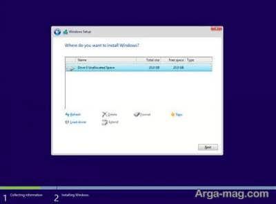 نصب ویندوز 10 از روی فلش