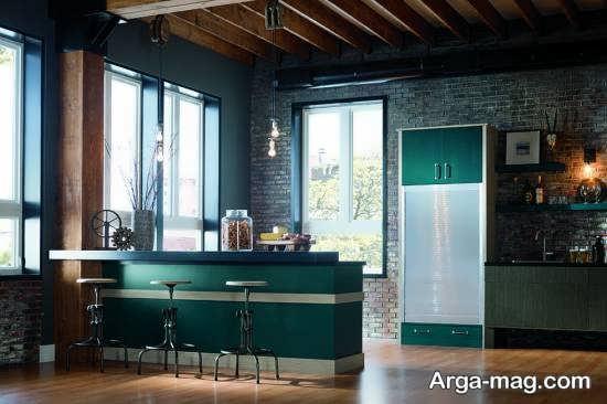 طراحی فضای داخلی لاکچری آشپزخانه