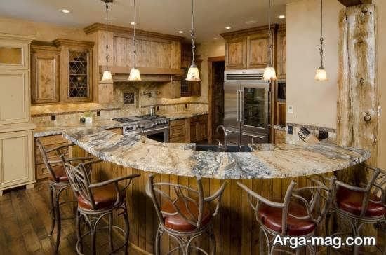 چیدمان فضای داخلی شیک آشپزخانه 2018