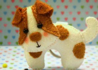 آموزش ساخت عروسک سگ نمدی