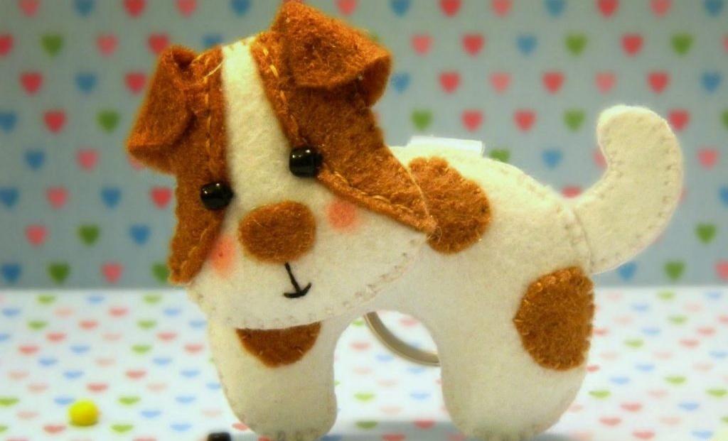آموزش دوخت عروسک نمدی با الگو آموزش ساخت عروسک سگ نمدی ساده و  زیبا بـه همراه الگو