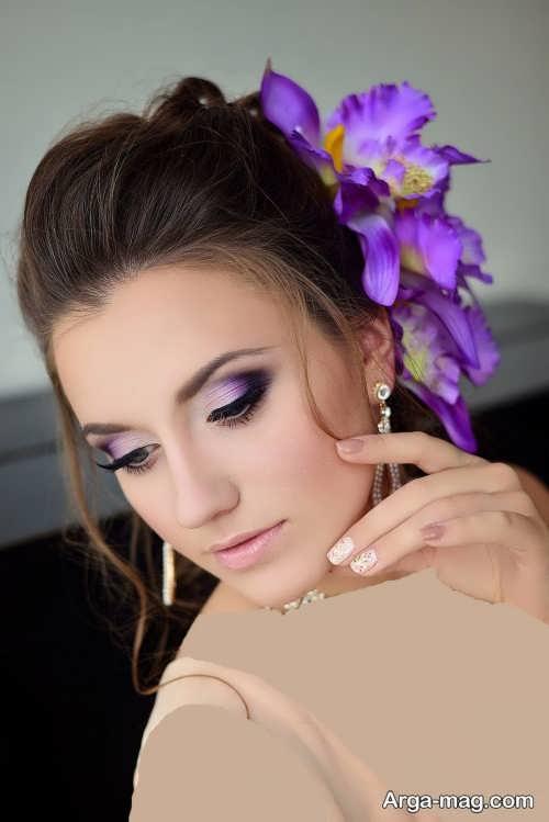 مدل آرایش عروس زیبا و شیک