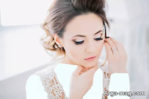 مدل آرایش صورت ملایم عروس