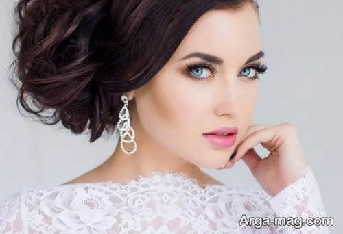 مدل آرایش ملایم و زیبا عروس