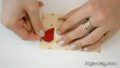 Making a greeting card 11 - به همین راحتی، کارت تبریک عاشقانه بسیار زیبا درست کنید
