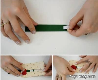 چسباندن فوم چسبی بر روی نوار سبز
