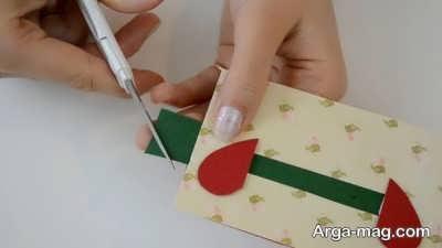 Making a greeting card 14 - به همین راحتی، کارت تبریک عاشقانه بسیار زیبا درست کنید
