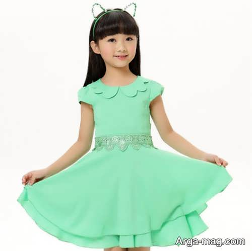 مدل لباس مجلسی کره ای دخترانه بچه گانه