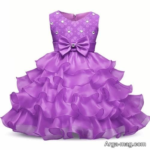 مدل لباس پرنسسی بچه گانه بنفش