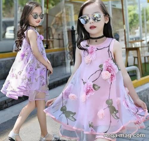 مدل لباس دخترانه حریر تابستانی
