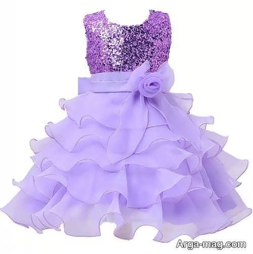 مدل لباس مجلسی بنفش دخترانه