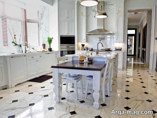 دکوراسیون آشپزخانه های مدرن باسرامیک جذاب