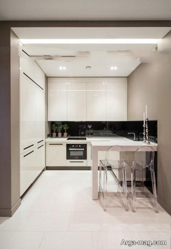 آشپزخانه های با دکور سیاه سفید