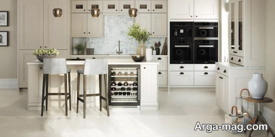 آشپزخانه باکابینت سفید