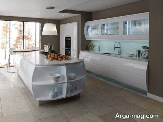 دکوراسیون آشپزخانه های مدرن سفید