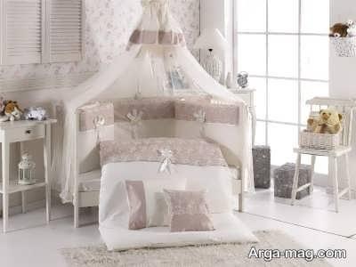 تخت نوزاد مدل تاج دار