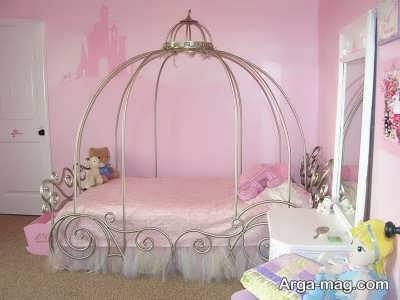 مدل تخت خواب کالسکه ای