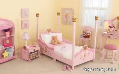 تزیین تخت نوزاد دختر